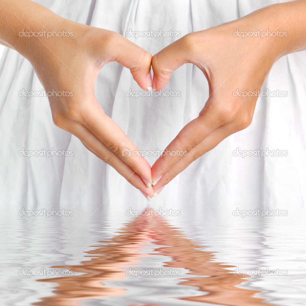 Heart with reflection