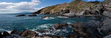 Rocky panoramic seashore
