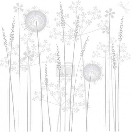 Photo for Flower gray background with dandelion - Royalty Free Image