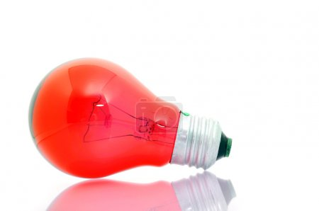 Photo for Energy red bulb - Royalty Free Image