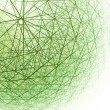 3d spherical structure. Computer generated this im...