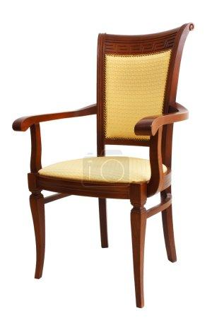 Photo pour Chaise isolée sur fond blanc - image libre de droit