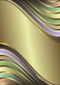 Retro pastel stripes frame