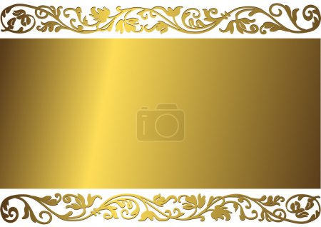 Illustration for Vintage golden frame with place for the text - Royalty Free Image