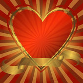 Abstraktní pozadí se srdcem