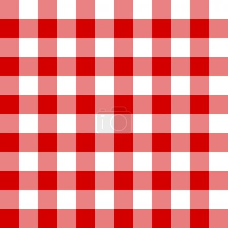 Illustration for Seamless red and white cell background - Royalty Free Image
