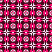 Seamless cell dark pink vivid floral pattern (vector)