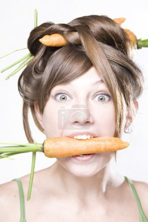 Girl with carrot