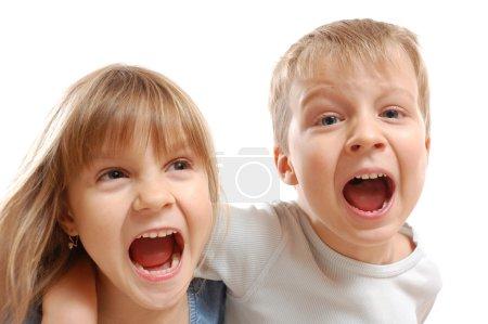 Naughty shouting kids