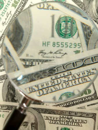 Money background from hundred bucks bank