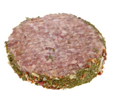 Pork beef on white background