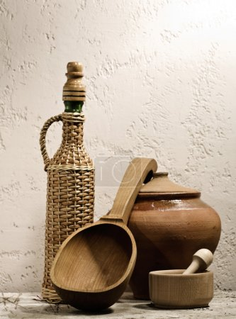 Photo for Cuisine still life on the desk - Royalty Free Image