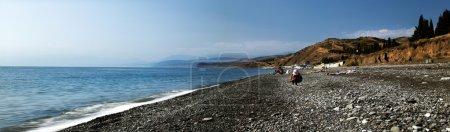 Summer time on the Black Sea beach