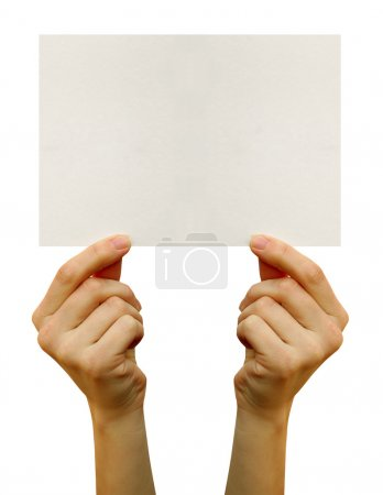 Photo for Card blank in a hand - Royalty Free Image