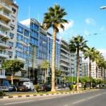 Street in Limassol, Cyprus....