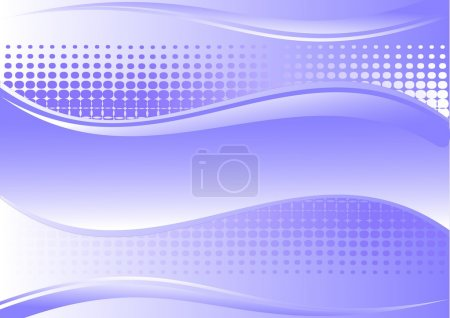 Illustration for Blue and white background with place for text - Royalty Free Image