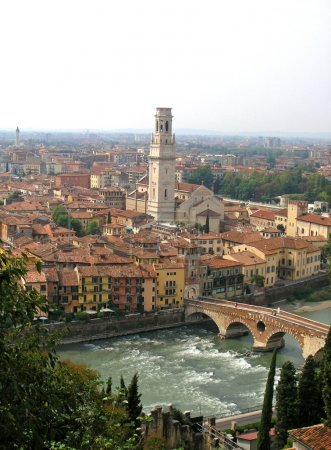 Verona panoramic view, Italy