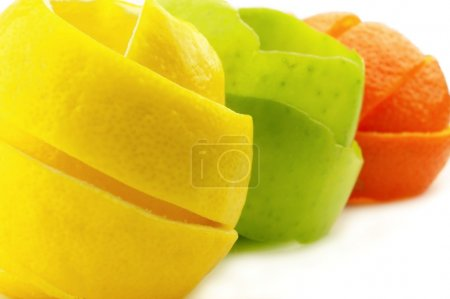 Skins of fruit