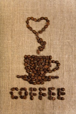 Coffee cup over canvas background