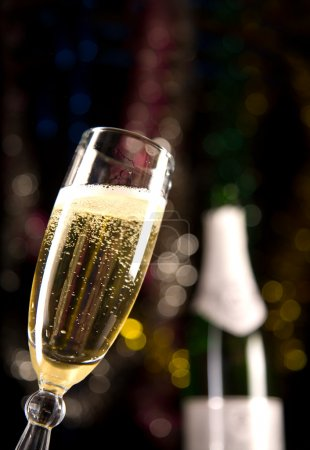 Close-up of champagne glass