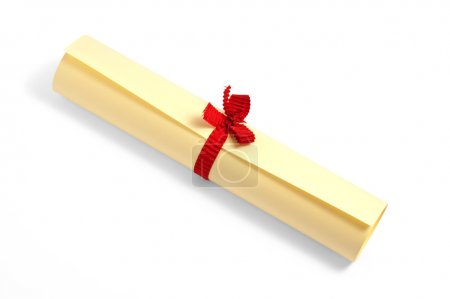 Twisted diploma with ribbon