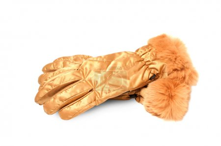 Gloves fashionable gold