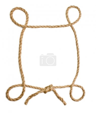 Picture frame of rope