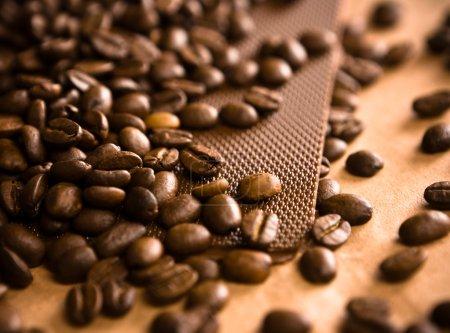 Photo pour Coffe backgroun abstrait - image libre de droit