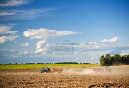 Agricultural action on the field