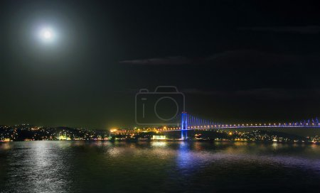 Midnight Bosphorus Bridge