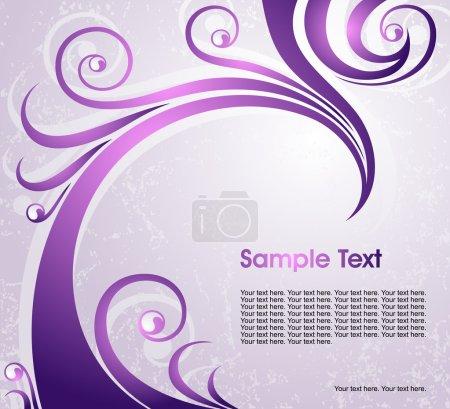 Illustration pour Fond floral violet abstrait, vecteur - image libre de droit
