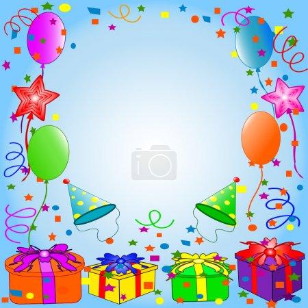 Photo pour Illustration d'un fond joyeux anniversaire - image libre de droit