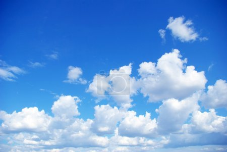 Photo for Blue sky background with a tiny clouds - Royalty Free Image