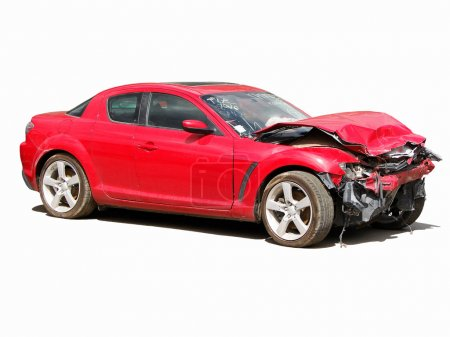 Photo for Auto accident truck hit right front - Royalty Free Image