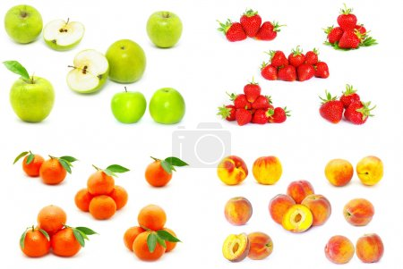 Photo for The fruits isolated over white - Royalty Free Image