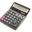 Pocket calculator on a white background...