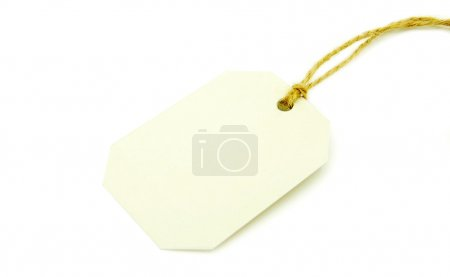 Photo for Blank tag isolated on a white background - Royalty Free Image