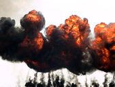 """Постер, картина, фотообои """"Взрыв огня и дыма"""""""