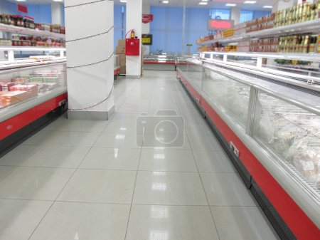 Photo for The image of a rows in a supermarket - Royalty Free Image
