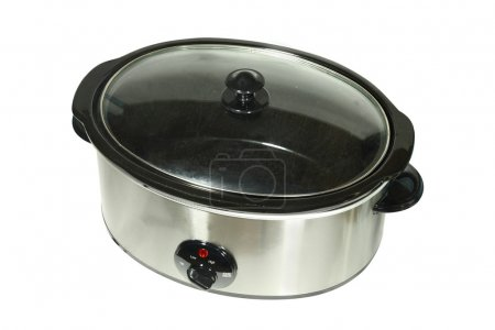 Photo for Slow cooker under the white background - Royalty Free Image