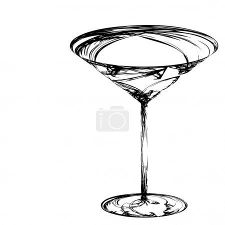 Illustration pour Le verre à vin stylisé pour faute - image libre de droit