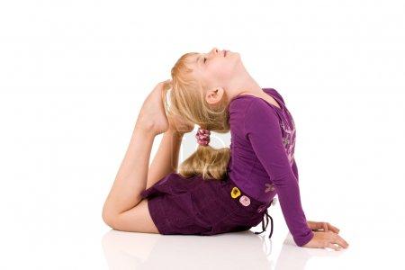 Little child gymnast