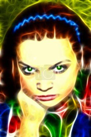 Fractal illustration of a woman