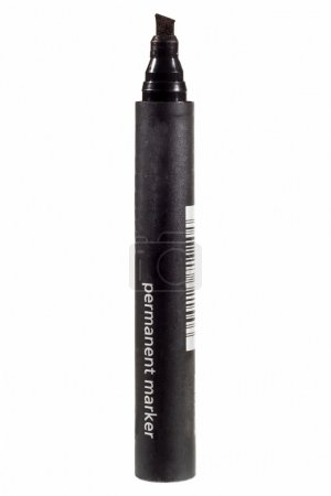 Black felt tip marker isolated on a white backgrou...
