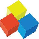 3d cubes in color 02