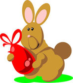 Holiday hare gift egg in color 02