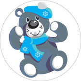 Vector Bear with snowflake color 01 More cartoons in portfolio