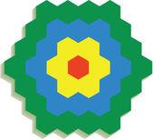 Hexagonal 3d pattern in color 01