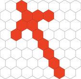 Hexagonal 3d pattern in black 03