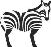 Zebra silhouette in black 01